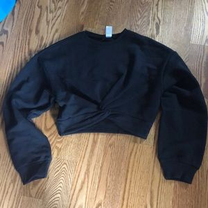 H&M black knotted crop top